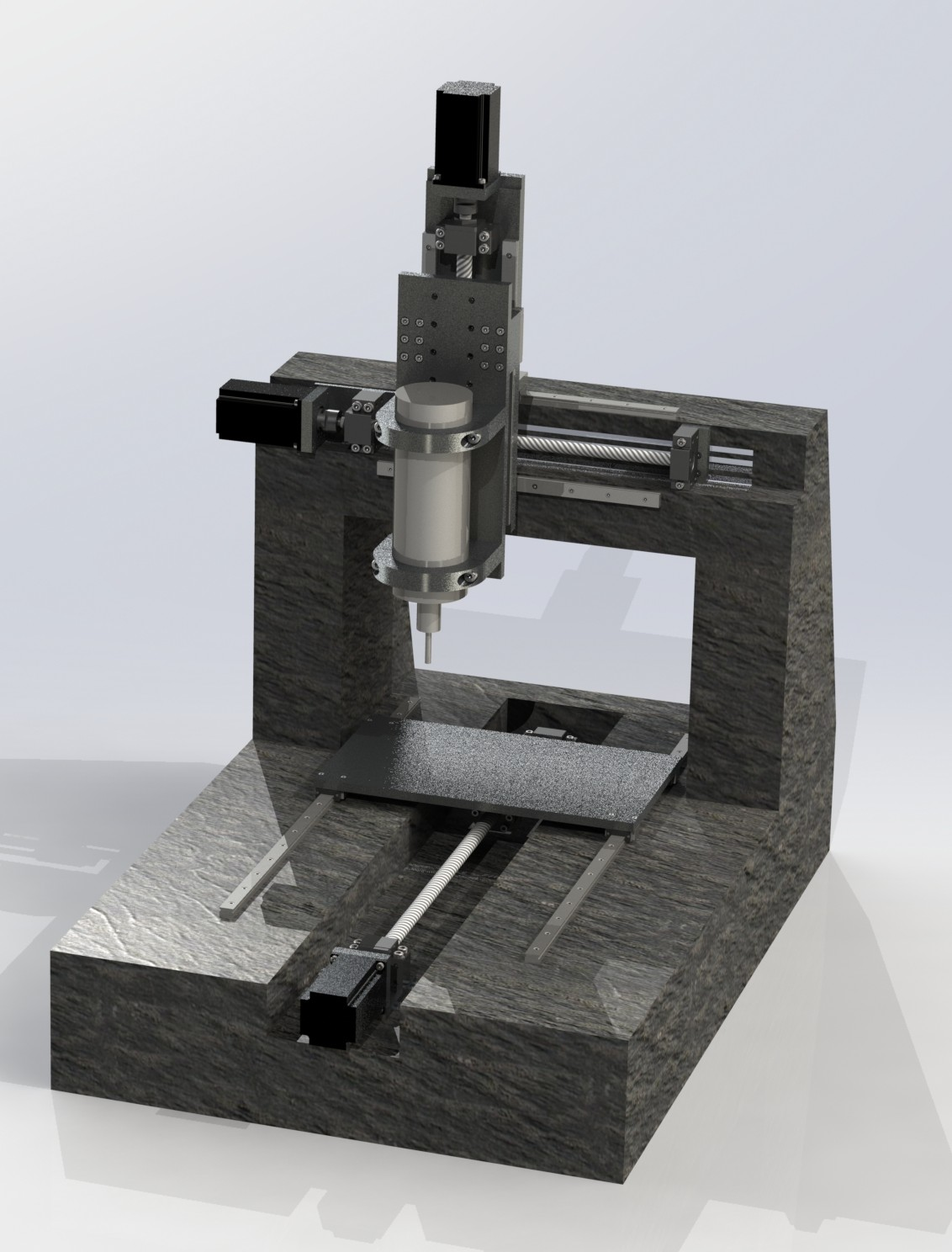 Custom Epoxy Granite Cnc Mill Cad Model Learn Cnc