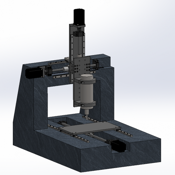 Epoxy Granite CNC Mill CAD