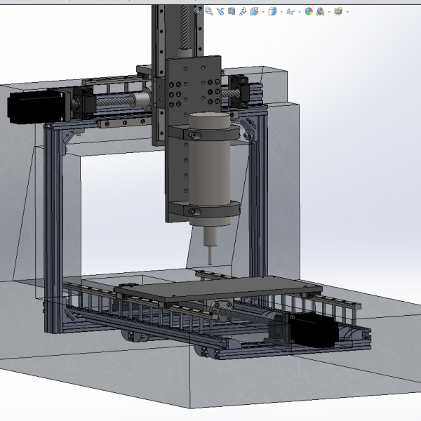 Epoxy Granite CNC Mill CAD Insides