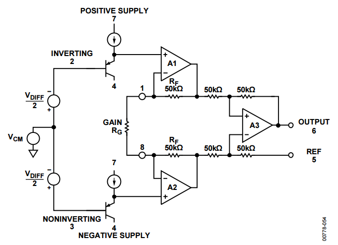 AD 623 Simplified Block Diagram