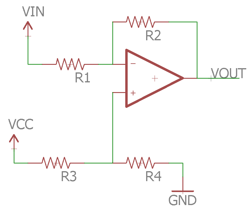 Biased Inverting Amplifier