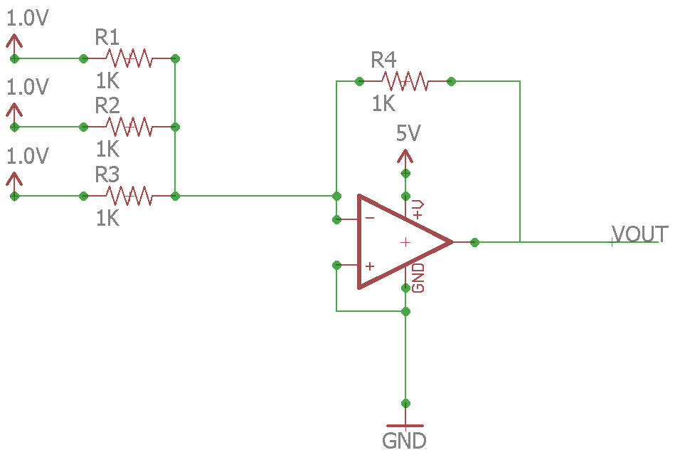 Op Amp Real Summing Amplifer