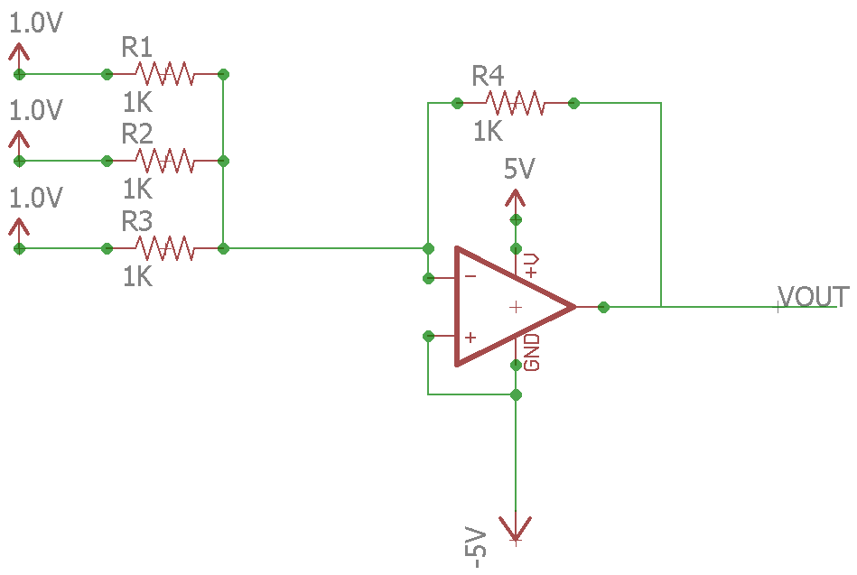 Op Amp Real Summation Amplifier 2